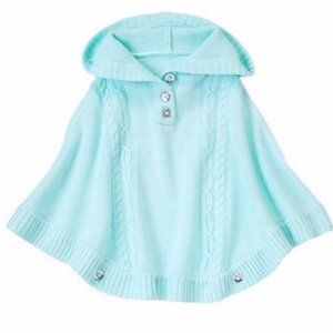 Gymboree Teal Hooded Poncho